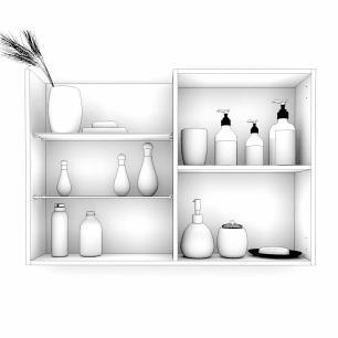Espelheira para Banheiro 100% MDF Jasmin 80 Cm Branco - Mgm