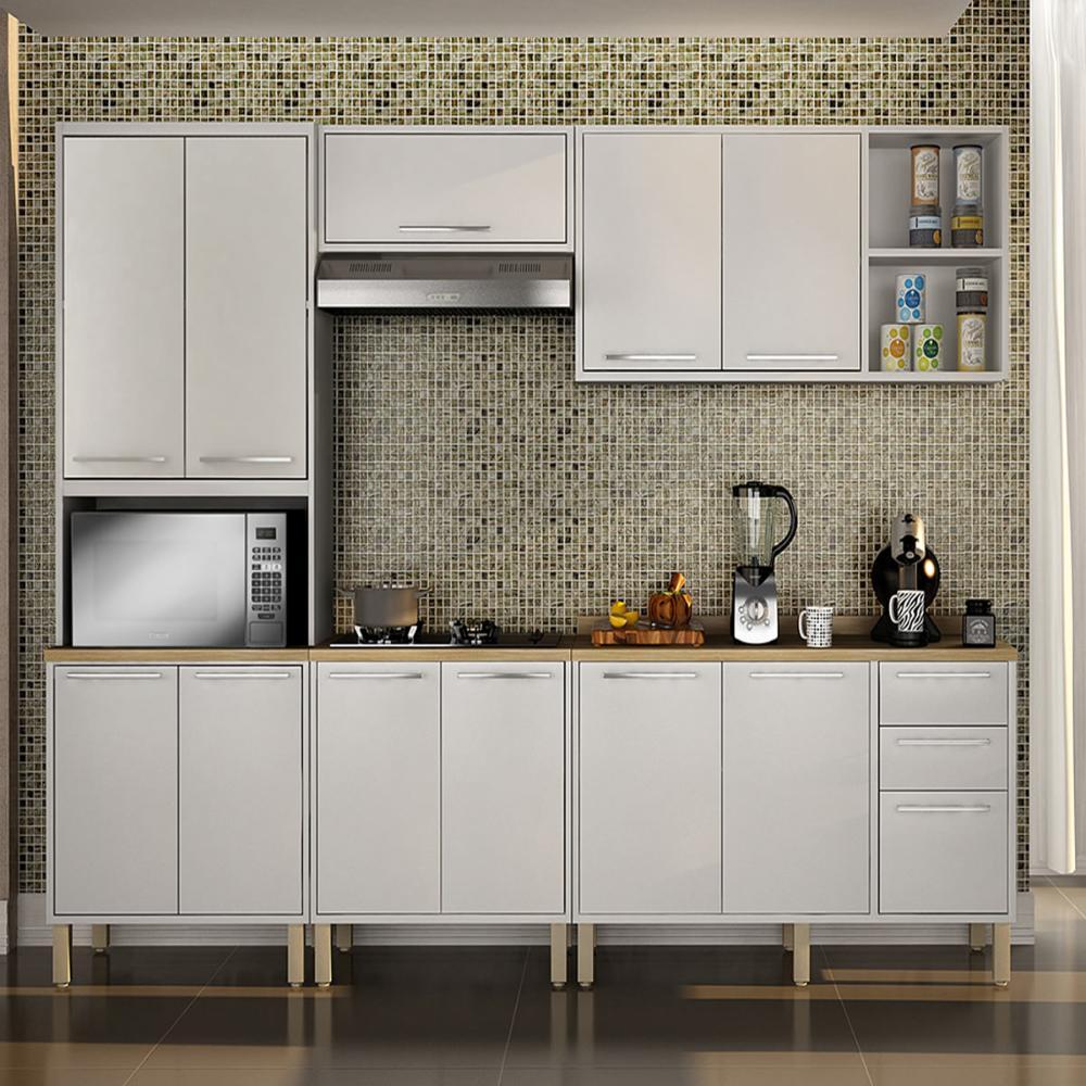 Cozinha 5 Peças Paris 08 - Branco - Salleto