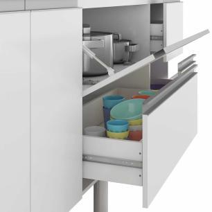 Balcao De Cozinha 100% Mdf Prisma Para Pia 174 Cm Amendoa/Off White - Mgm