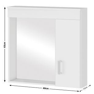Espelheira para banheiro Turim Branco - Mgm