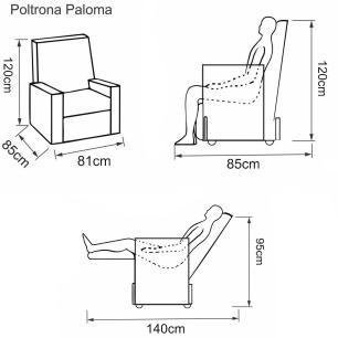 Poltrona Reclinável Paloma - Korino Preto 420 - Delare