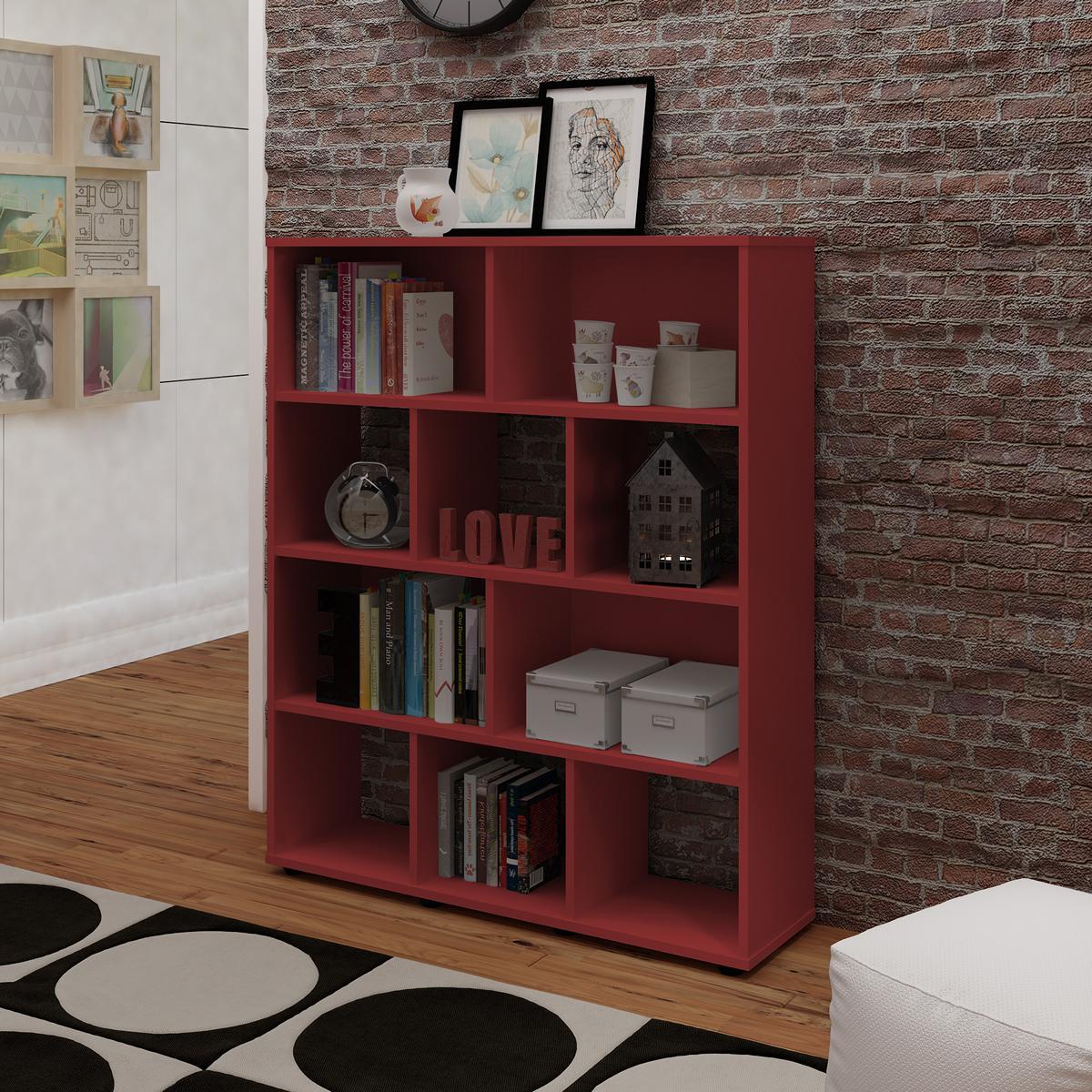 Estante Book - Vermelho - Artely