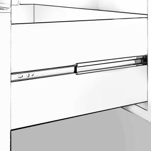 Gabinete De Banheiro 100% Mdf Messina 59 Cm  Amendoa - Mgm