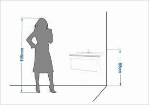 Gabinete De Banheiro 100% Mdf Hibisco 79 Cm Porta Vidro Reflecta Amendoa/Branco - Mgm