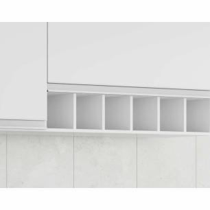 Armario De Cozinha Aereo 100% Mdf Prisma 154 Cm Branco - Mgm