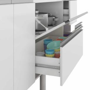 Balcao De Cozinha 100% Mdf Prisma Para Pia 114 Cm Amendoa/Off White - Mgm