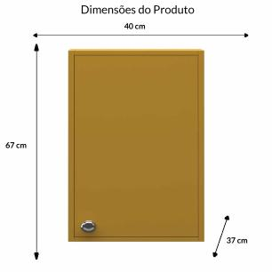 Armario Suspenso 1 Porta - Amarelo - Primolar