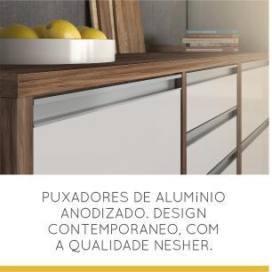 Cozinha compacta Nesher Baronesa 2 - Branco - Nesher