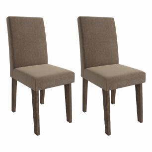 Sala Jantar Luana 100 Cm x 100 Cm Com 4 Cadeiras Milena C/Moldura Marrocos/Pluma - Cimol