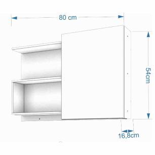 Espelheira para Banheiro 100% MDF Lis 80 Cm Carvalho - Mgm