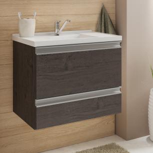 Gabinete De Banheiro 100% Mdf Messina 59 Cm Café - Mgm