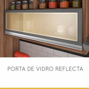 Cozinha Compacta Baronesa 3 - Grafite - Nesher