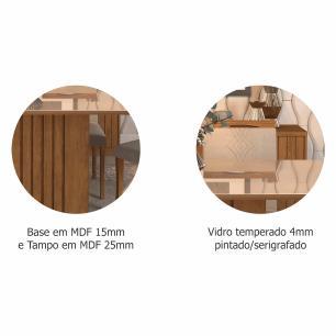 Sala Jantar Ana 130 Cm x 80 Cm Com 4 Cadeiras Tais C/Moldura Savana/Off White/Pluma - Cimol