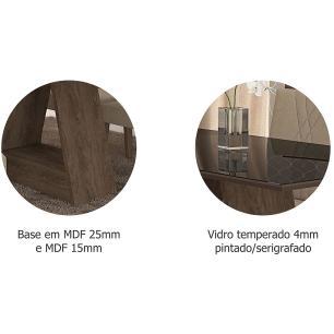 Mesa Alana 95cm x 95cm - Marrocos/Preto - Cimol