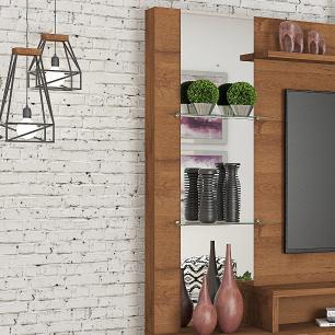 Estante Home 4 Portas Painel para TV até 55 Polegadas com Espelho Munique Savana Permobili