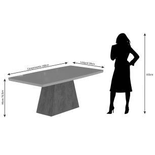Mesa Helen 180cm x 90cm - Savana/Off White - Cimol
