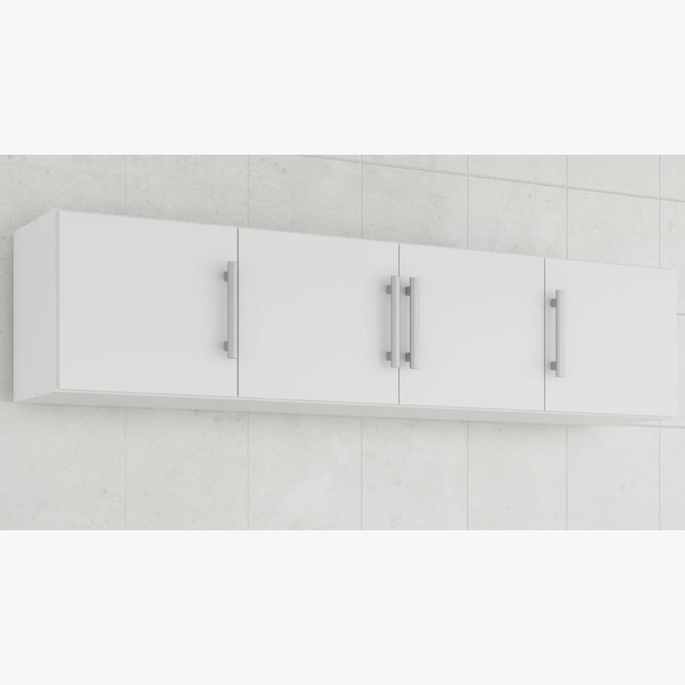 Armario De Cozinha Aereo 100% Mdf Flex 174 Cm Branco - Mgm