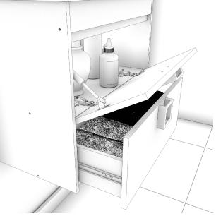 Gabinete De Banheiro 100% Mdf Lirio 59 Cm Com Espelho Branco - Mgm
