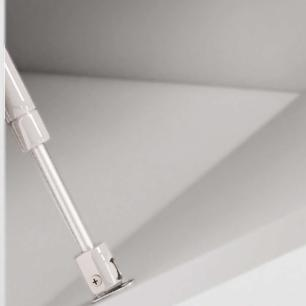 Gabinete De Banheiro 100% Mdf Azaleia 59 Cm Porta Vidro Branco - Mgm