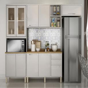 Cozinha 4 Peças Paris 11 - Branco - Salleto