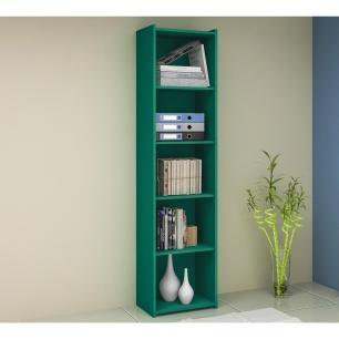 Estante Biblioteca Simples  - Turquesa - Movelbento
