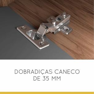 Armario de Cozinha 1 Porta Nicho Adega Nesher Baronesa 120 cm - Grafite - Nesher