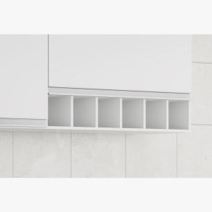 Armario De Cozinha Aereo 100% Mdf Prisma 134 Cm Branco - Mgm