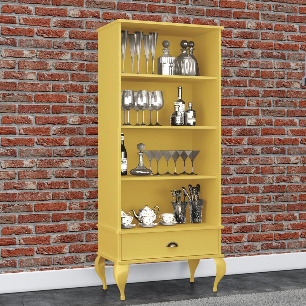 Estante Classica 1 Gaveta - Amarelo - Movelbento
