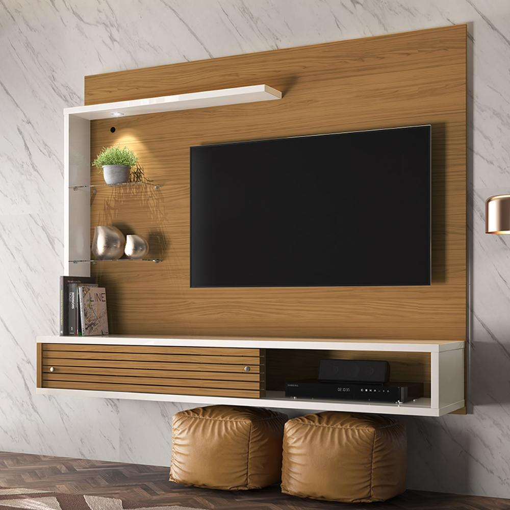 Painel Para TV Frizz Select - Naturale/Off White - Madetec