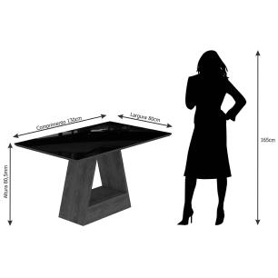 Mesa Alana 130cm x 80cm - Savana/Off White - Cimol