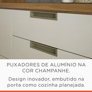 Balcão de Cozinha Duquesa 1 Porta 4 Gaveta 120 cm - Freijo/Off White - Nesher