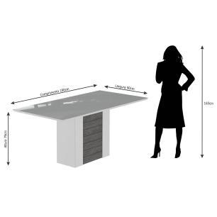 Sala Jantar Rafaela 180 Cm x 90 Com 6 Cadeiras Milena C/Moldura Savana/Off White/Chocolate - Cimol