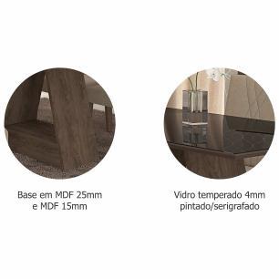 Sala Jantar Alana 130cm x 80cm  4 Cad. Milena Marrocos/Preto/Pluma – Cimol
