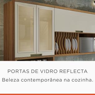 Paneleiro de Cozinha Duquesa 4 Portas 1 Gaveta 70 cm - Freijo/Off White - Nesher
