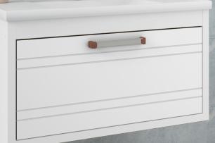 Gabinete De Banheiro 100% Mdf Jade 79 Cm Porta Frizada Branco - Mgm
