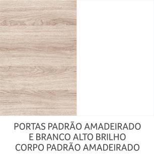 Cozinha Completa Gold 2 - Branco Amadeirado - Nesher