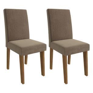 Sala Jantar Rafaela 95 Cm x 95 Cm Com 4 Cadeiras Milena Savana/Off White/Pluma - Cimol