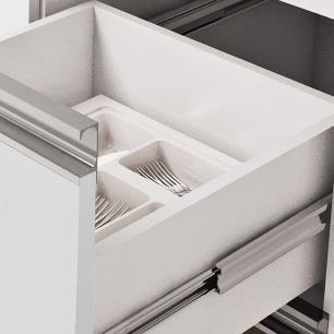Balcao De Cozinha 100% Mdf Prisma Para Pia 144 Cm Branco/Carvalho - Mgm