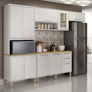 Cozinha 4 Peças Paris 03 - Branco - Salleto