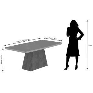 Mesa Helen 180cm x 90cm - Branco - Cimol