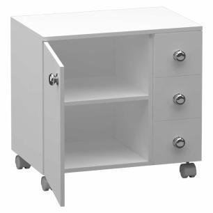 Gabinete 1 Porta / 3 Gavetas - Branco - Primolar