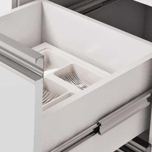 Balcao De Cozinha 100% Mdf Prisma Para Pia 114 Cm Branco/Café - Mgm