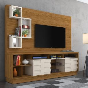 Home Theater Heitor - Naturale/Off White - Madetec