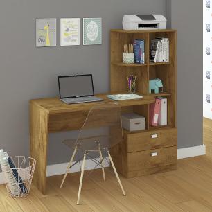 Escrivaninha/Mesa para Computador Com Estante Elisa Mel - Permobili