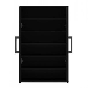 Armario Multiuso / Sapateira 2 Portas - Preto - Primolar