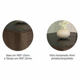 Sala Jantar Rafaela 95cm x 95cm 4 Cad. Milena Marrocos/Preto/Chocolate - Cimol