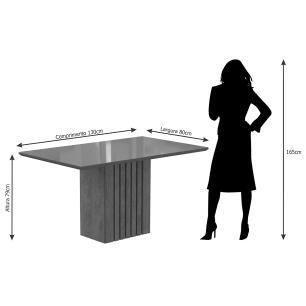 Mesa Ana 130cm x 80cm - Savana/Off White - Cimol
