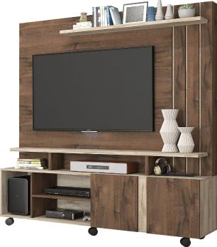 Estante Home Theater Valencia Cafe/Rustico - Permobili