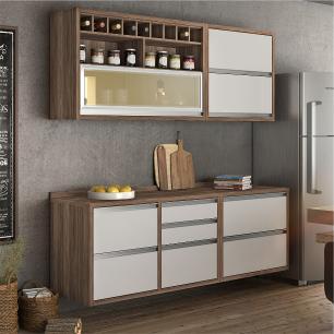 Cozinha compacta Nesher Baronesa 3 - Branco - Nesher