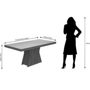 Sala Jantar Olivia 160cm x 80cm 6 Cad. Elisa Savana/Off White/Canela - Cimol - FORA DE LINHA 05/06/19